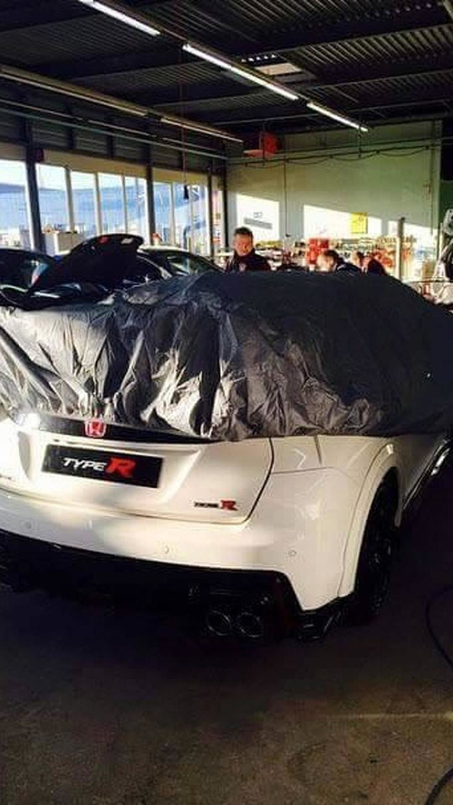 Production Honda Civic Type R photographed in the metal before Geneva debut