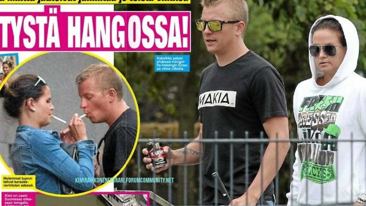 Kimi Räikkönen Finnish tabloid newspaper photos
