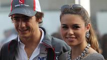 Esteban Gutierrez with girlfriend Paula Ruiz 17.11.2013 United States Grand Prix