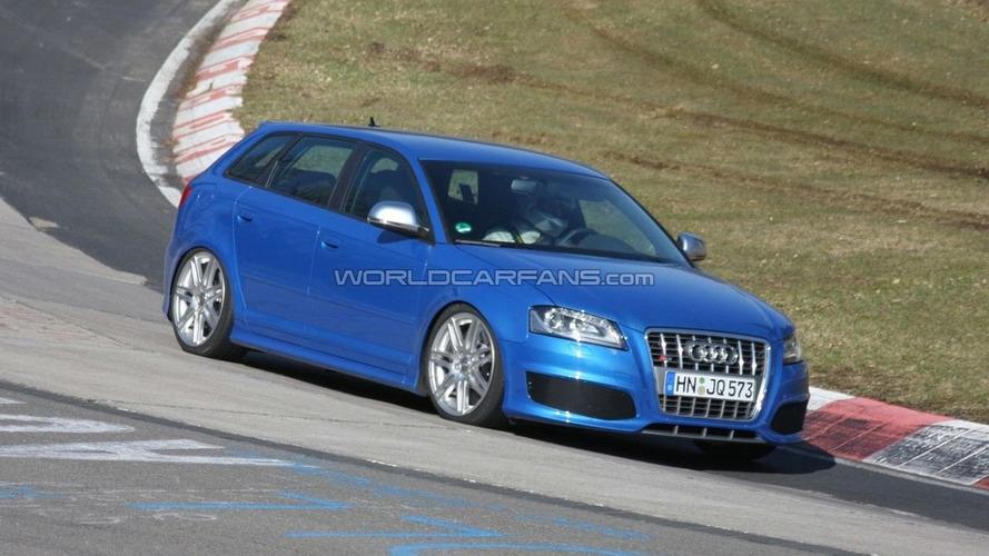 Audi RS3 Mule First Spy Photos at Nürburgring