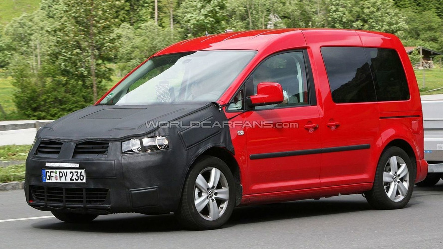 VW Caddy facelift first spy photos