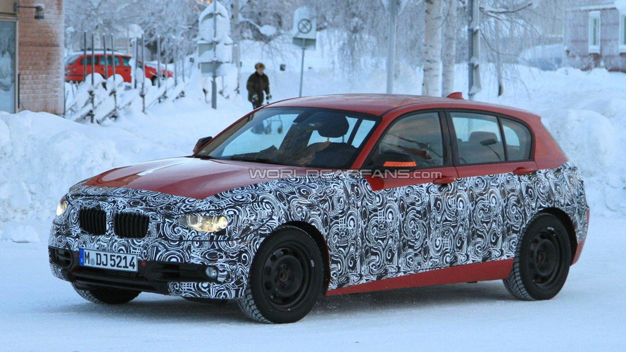 2012 BMW 1-Series spied in red