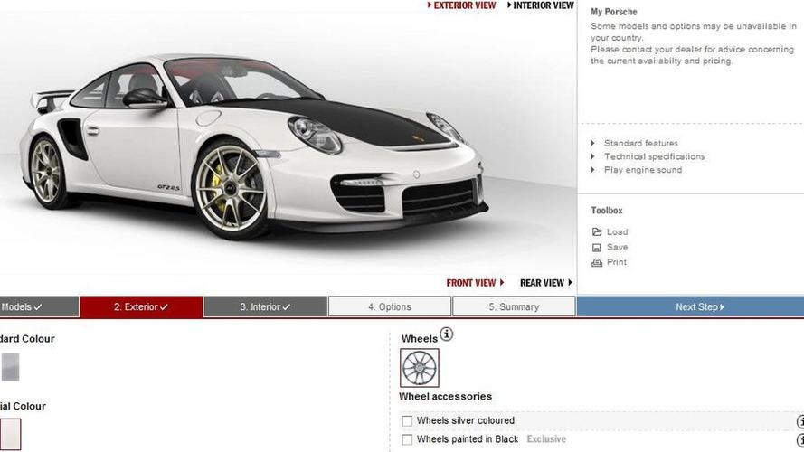 Porsche 911 GT2 RS Configurator Launched