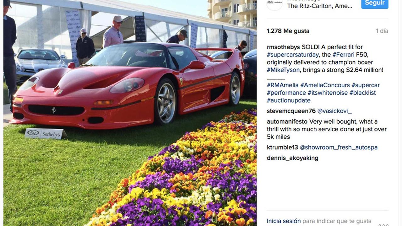 Ferrari F50 Mike Tyson subastado