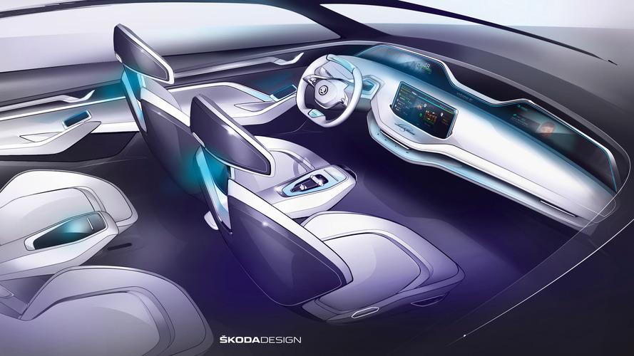 Škoda dévoile l'intérieur de son concept Vision E