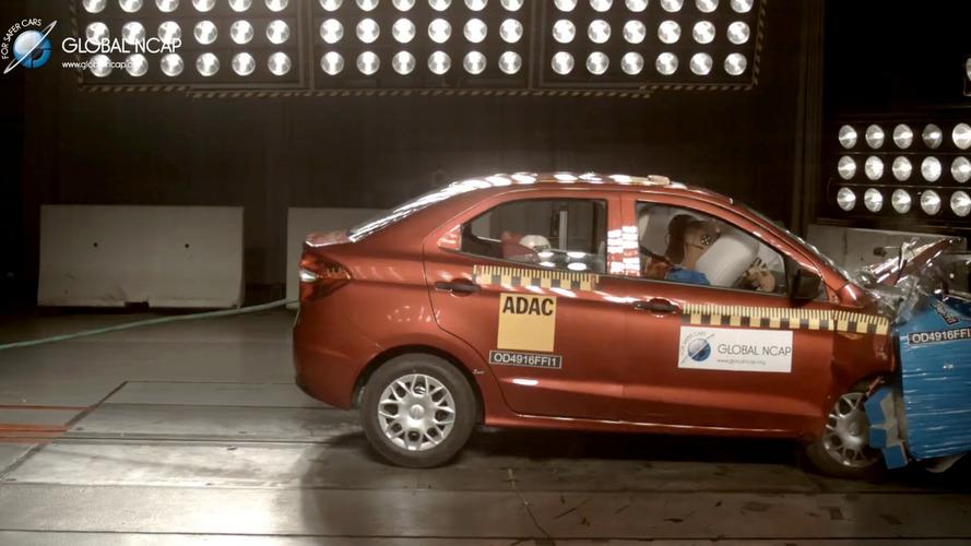 Ka+ encurtado vai mal em teste de impacto do Global NCAP