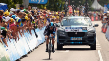 Jaguar F-Pace prototype support vehicle for 2015 Tour de France