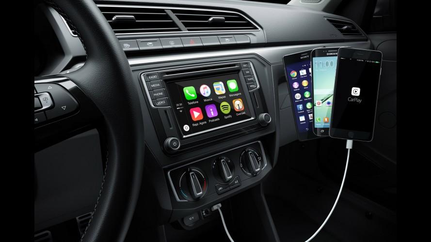 Novo Gol 2017: VW divulga primeira imagem com Apple CarPlay e Android Auto