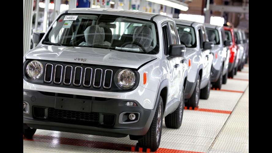 Jeep Renegade ultrapassa marca de 85 mil unidades produzidas no Brasil
