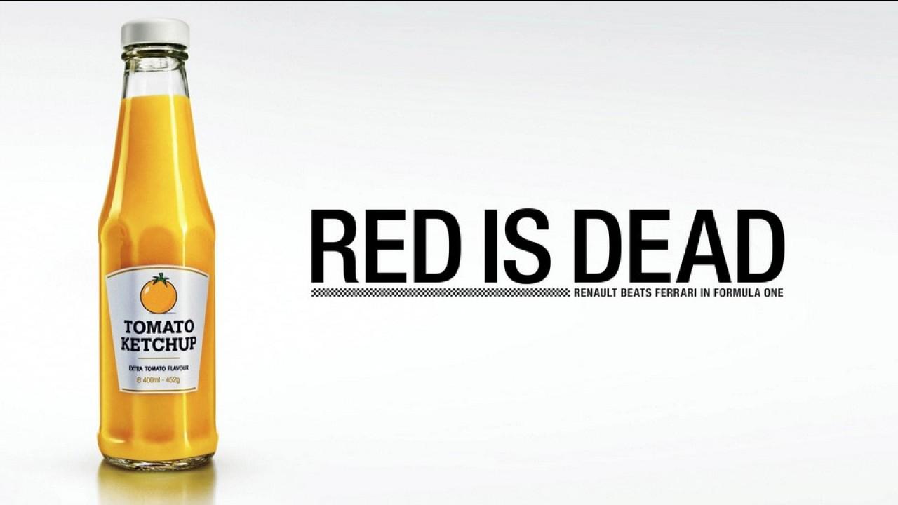 """Renault provoca Ferrari e insinua que o """"vermelho"""" amarelou"""