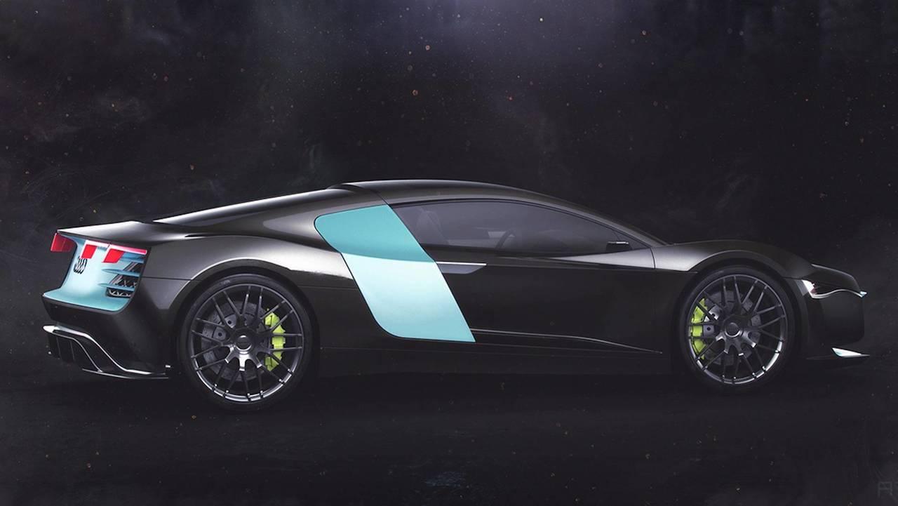 Audi Atom Supercar Concept Previews A Futuristic R8