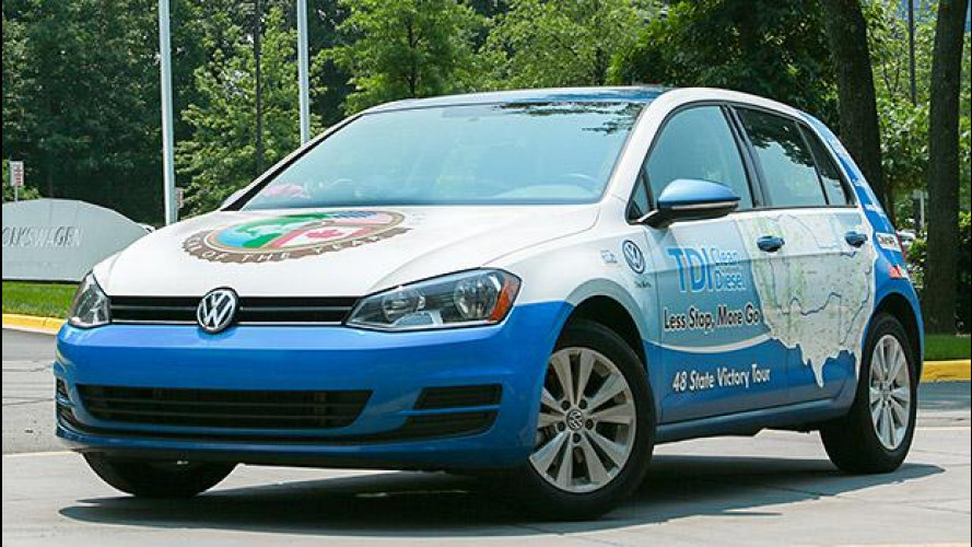 Volkswagen Golf TDI: giro degli USA record a 3,48 l/100 km
