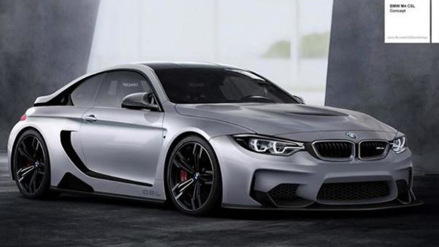 BMW M4 CSL Vision Concept rendered, hints a lightweight M4