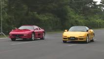Acura NSX Ferrari F355 Drag Race