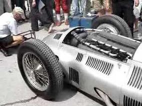Mercedes W154 Warming up Ennstal Jochen Mass