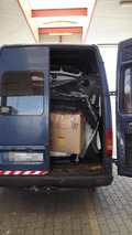 Stolen and dismantled BMW X6 squeezed inside a Volkswagen LT van, thief gets caught at border