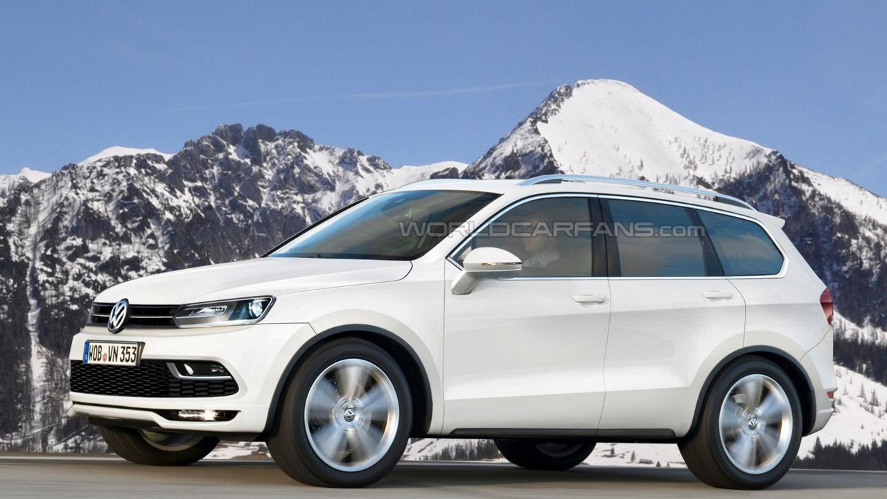 Volkswagen US-made 7-seat crossover speculative rendering 25.10.2012