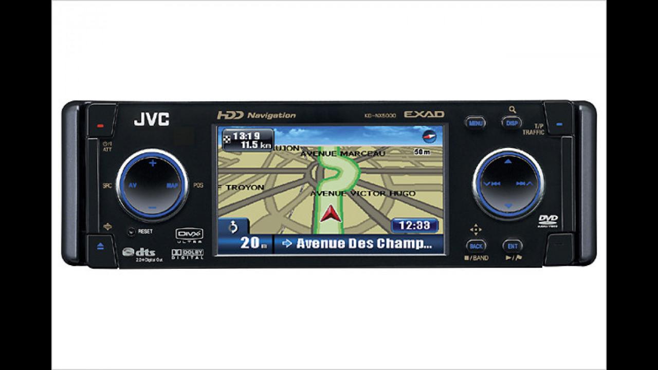 JVC KD-NX5000: 1-DIN-Navi mit großem Display