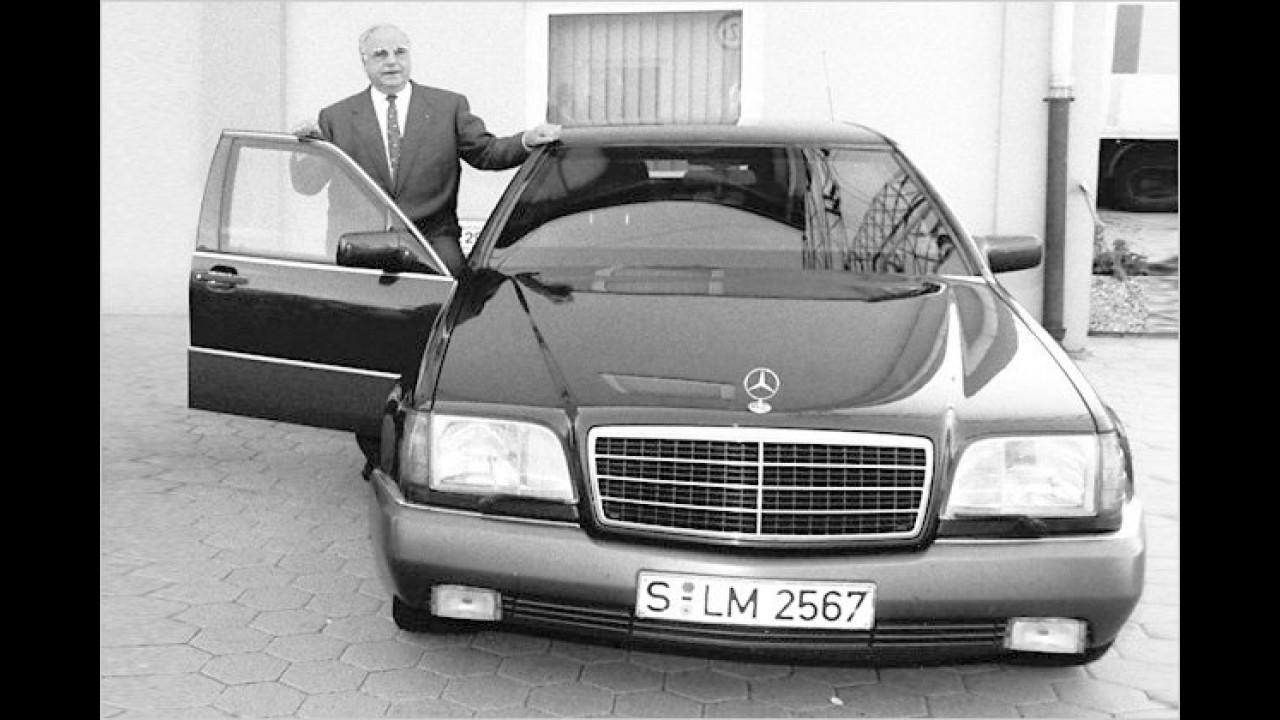 Helmut Kohl: Mercedes 500 SE (W 140)