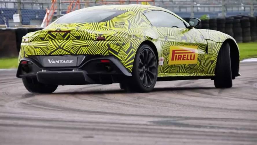 Aston Martin Vantage son teaser'ında ağır çekimde yanlıyor