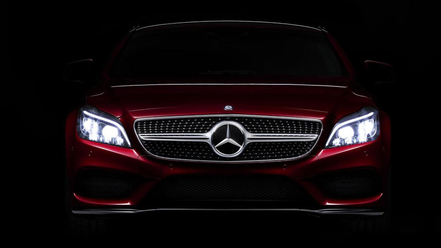 2015 Mercedes CLS teased with new Multibeam LED headlights