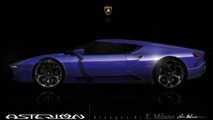 Lamborghini Asterion rendered based on teaser image