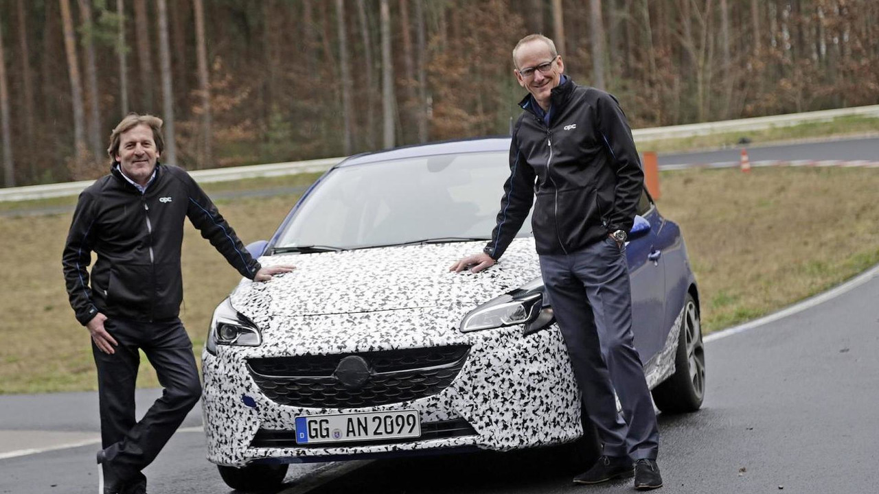 Opel Corsa OPC offical spy photo