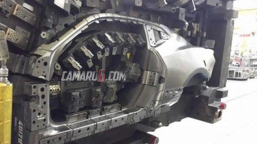 Next-gen Chevrolet Camaro side profile revealed in body die photo