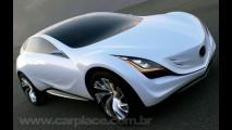Mazda divulga mais imagens e detalhes do futurístico Kazamai Concept