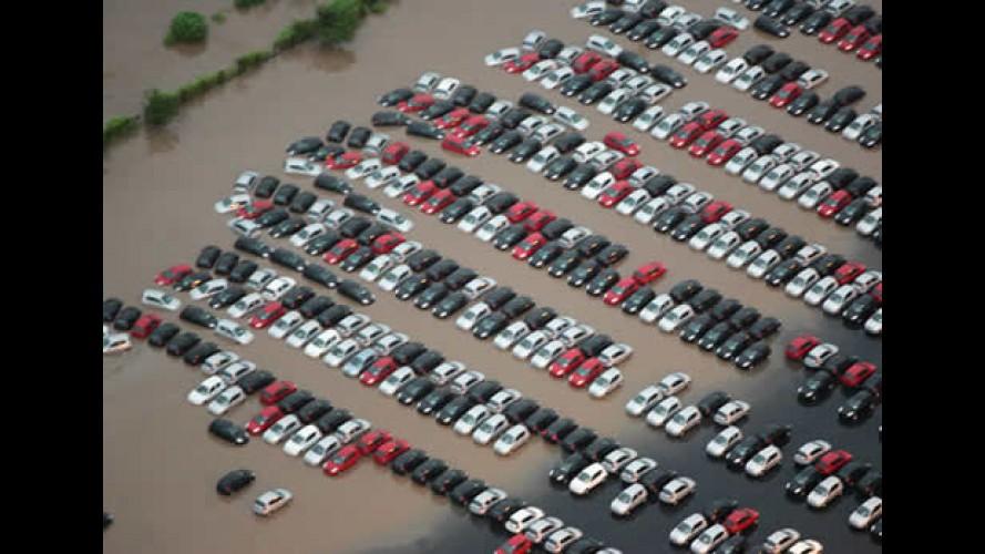 Ford informa que não irá vender KAs 0km que ficaram submersos no pátio