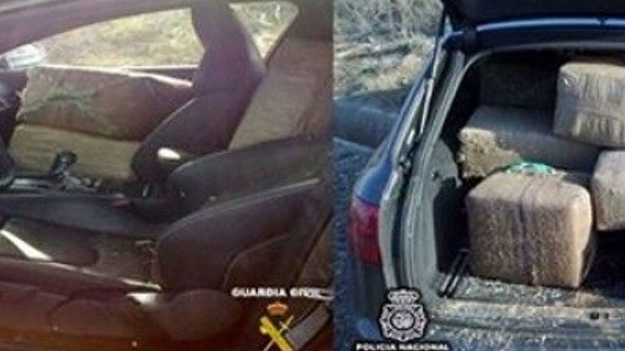 Audi RS6 caught with 870kg of hashish in Spain