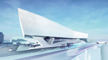 Computer visualization of the new Porsche Museum