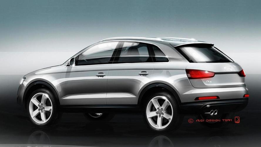Audi Q3 teased ahead of Shanghai debut