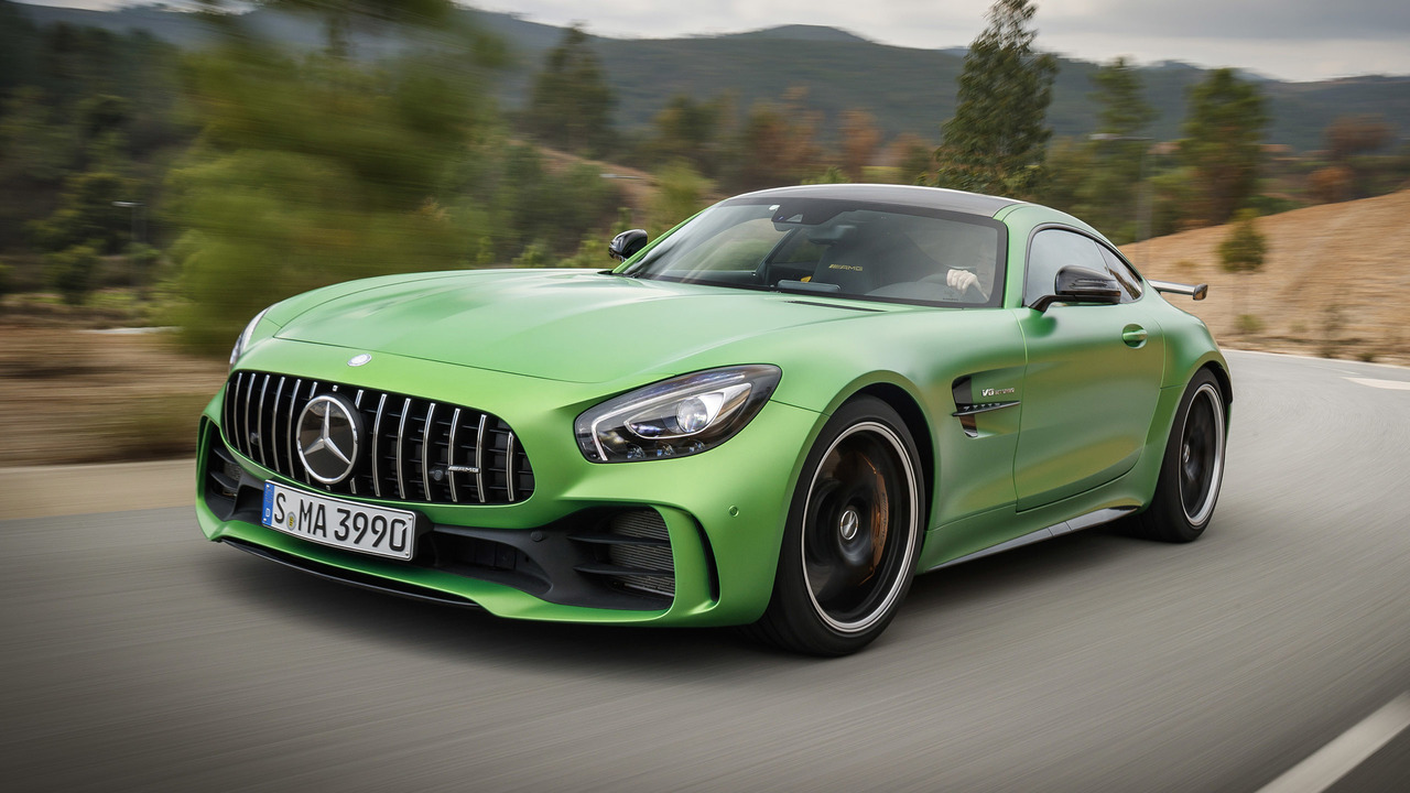 2018 mercedes amg gt r first drive the green monster of for Mercedes benz amg 6 3 liter v8 price