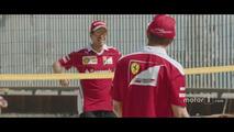 Beach volley ball with Sebastian Vettel and Kimi Raikkonen