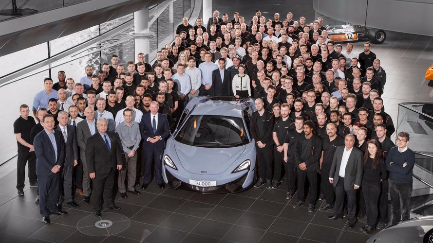 McLaren atinge a marca de 10.000 carros fabricados