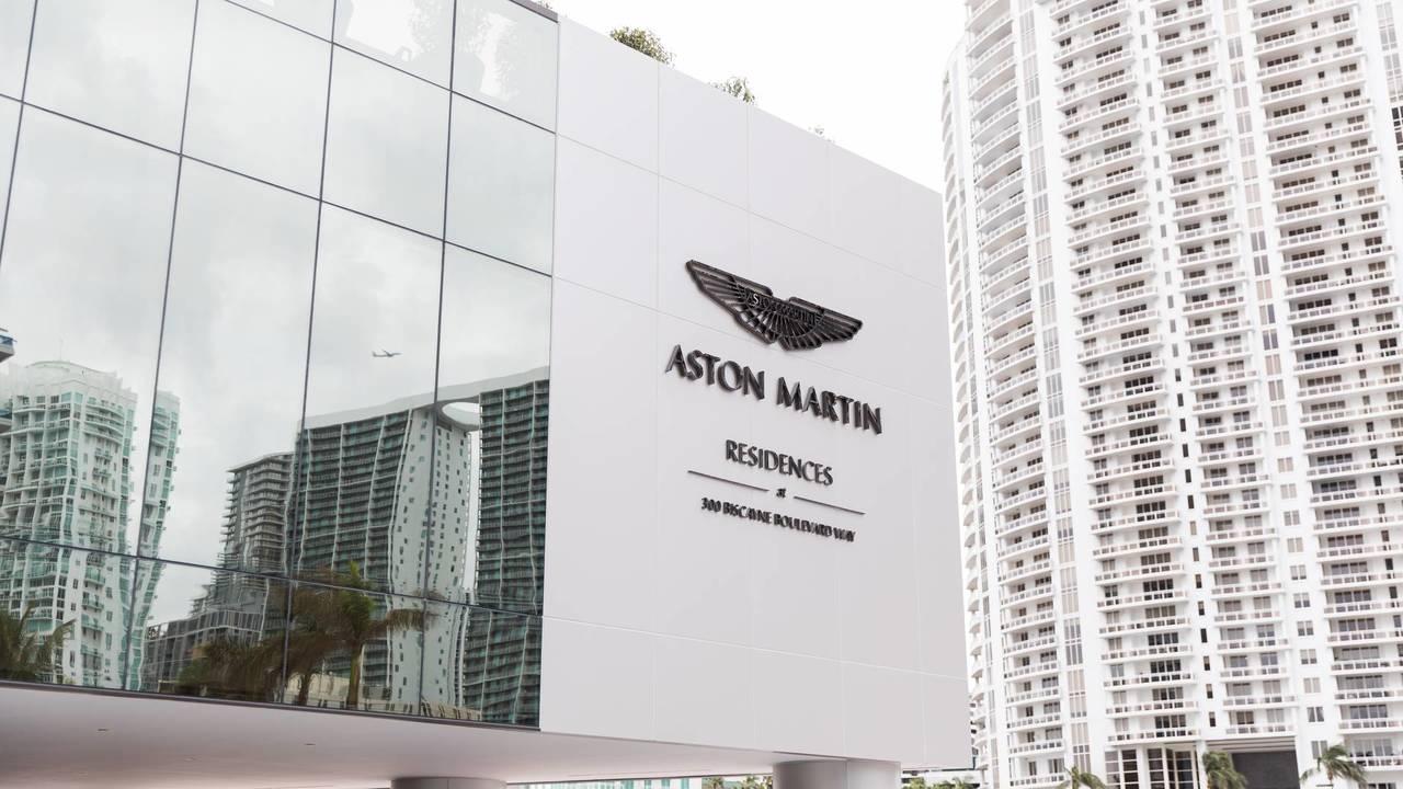 Aston Martin building block of flats