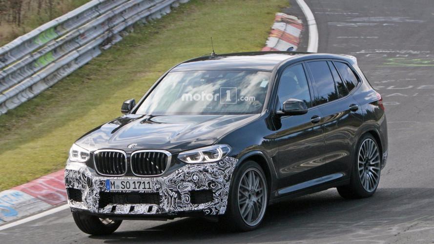 BMW X3 M 2018, fotos espía rodando en Nürburgring