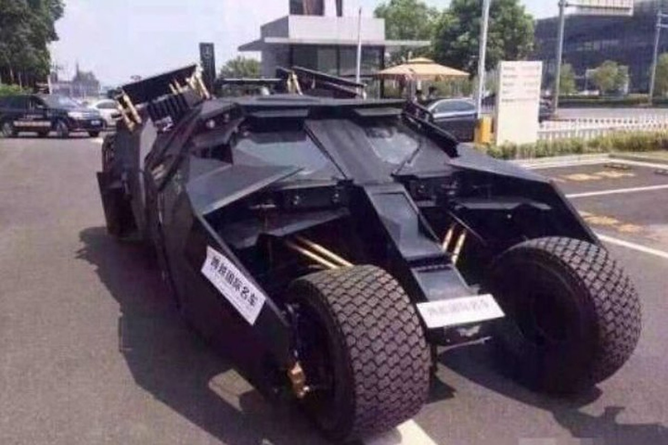 Man Angry with Dealership Blockades Lot with Batmobile