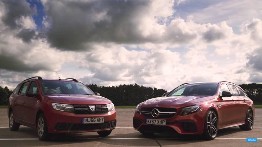 VIDÉO - Dacia Logan MCV vs Mercedes-AMG E 63 S Estate
