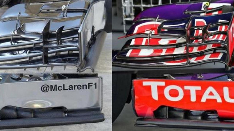 McLaren runs Red Bull front wing 'copy'