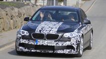 2011 BMW M5 F10 latest spy photos near Nurburgring