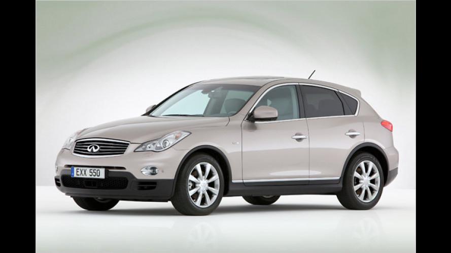 Infiniti EX mit Diesel ist ab 47.650 Euro zu haben