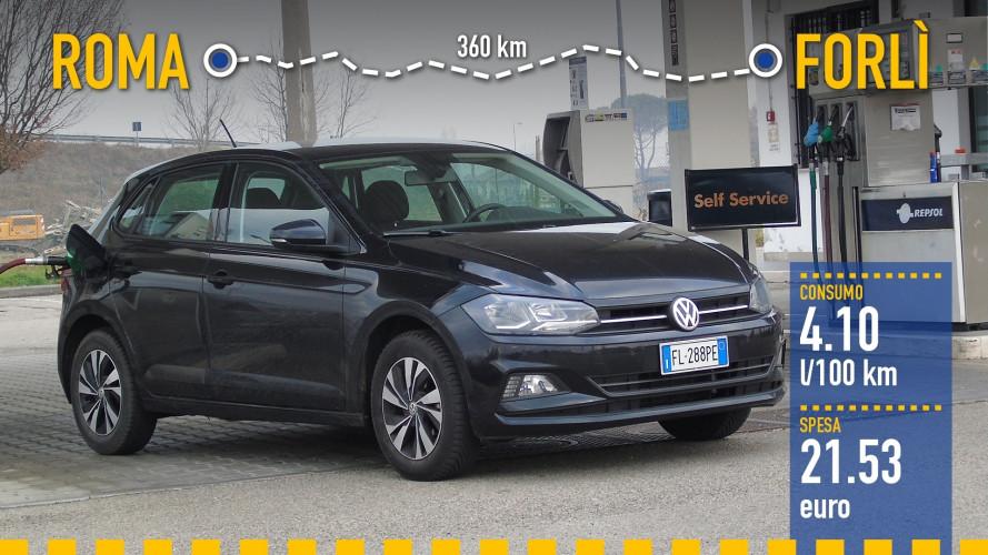 Volkswagen Polo 1.0, la prova dei consumi reali