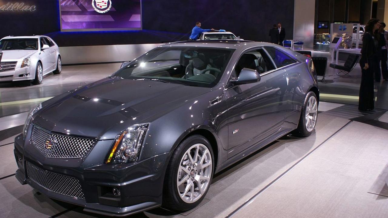 Cadillac CTS-V Coupe at 2010 NAIAS in Detroit