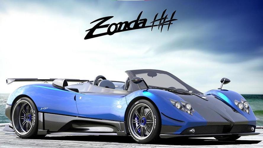 Pagani Zonda HH rendered plus Cinque Roadster 4/5 video