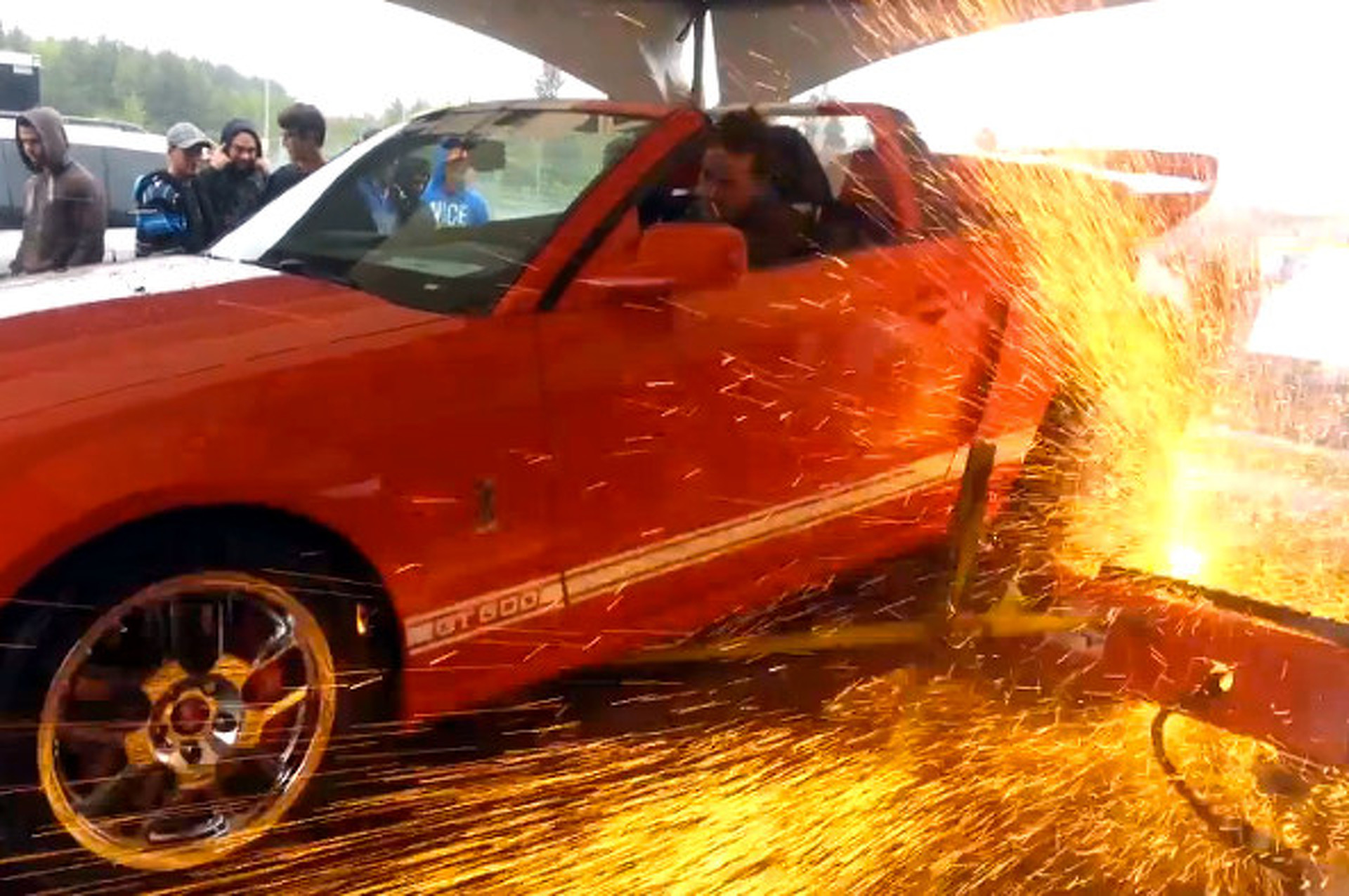 Shelby GT500 Overpowers A Dyno With Explosive Results [video]