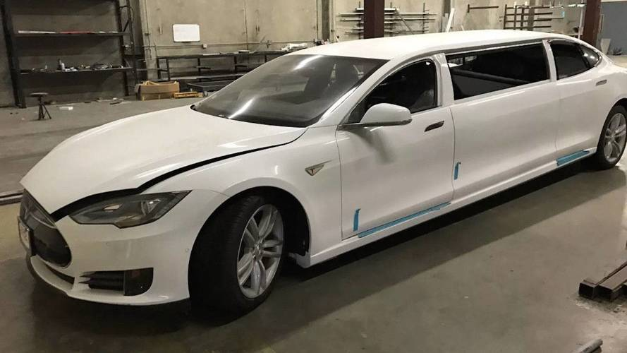Electrify Your Wedding Party With This Tesla Model S Limo