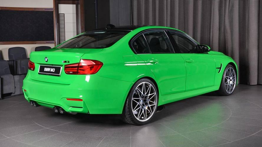 Sale a la venta este BMW M3, vestido en el Verde Mantis de Lamborghini