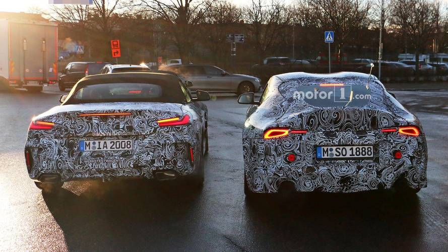 BMW Z4, Toyota Supra Spied Showing Their Sexy Rear Ends